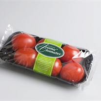 tomatoes - plastic tray with flowpack film